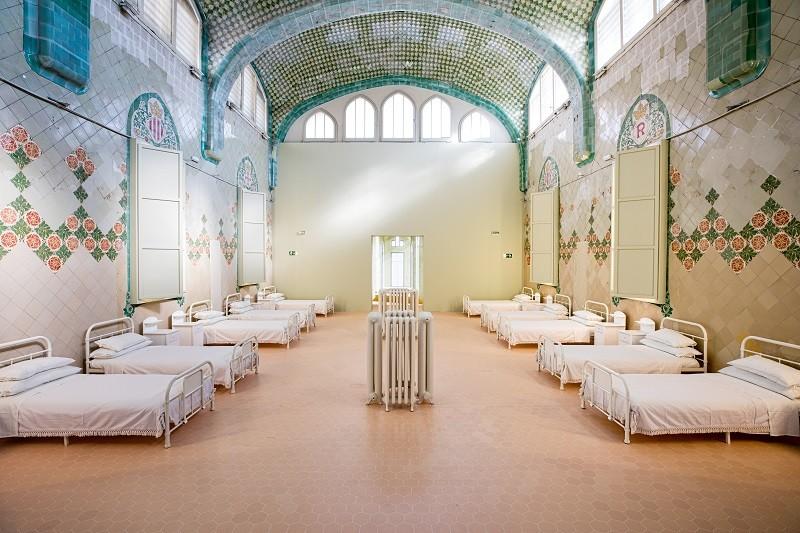 El Pabellón de Sant Rafael del Recinto Modernista de Sant Pau se convierte en una sala de pacientes de los años20